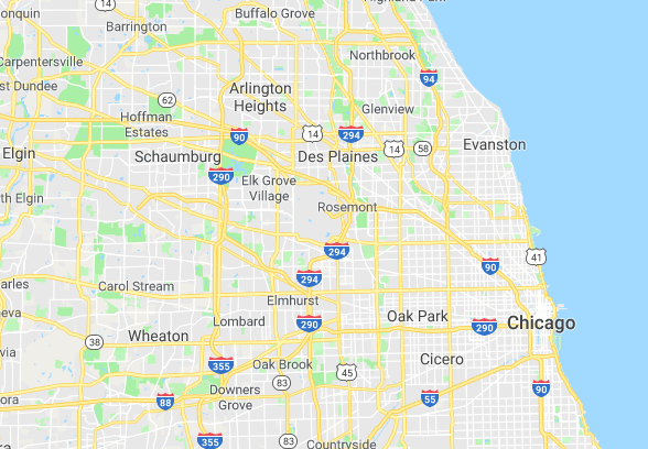 seo design chicago areas we serve map