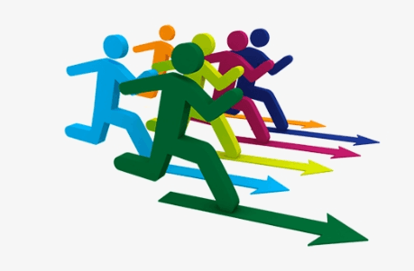 Outrank Your Competitors - running with arrows