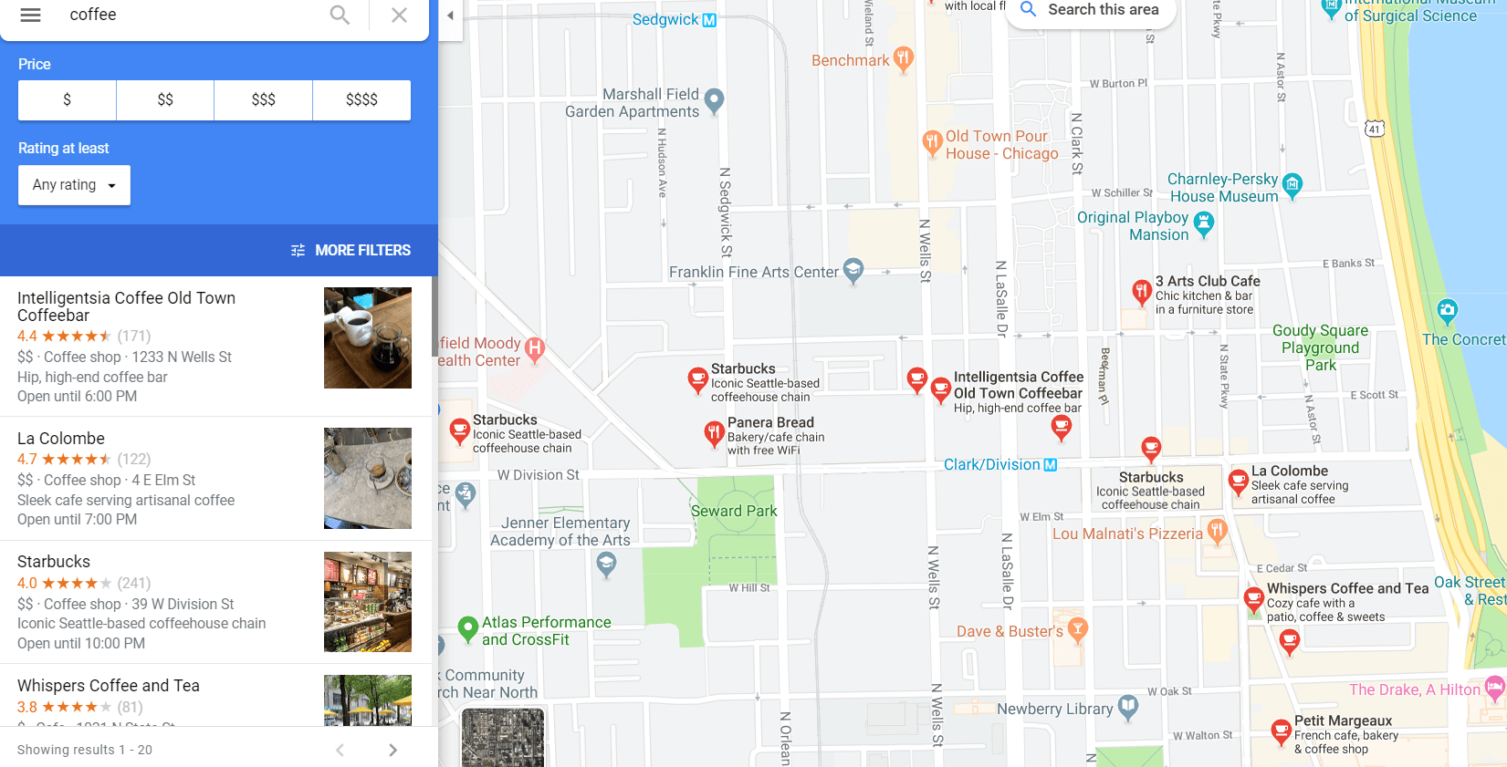 Outrank for Local Search - Google Map